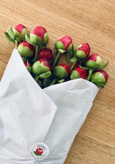Proces voordat de bloemen in de vaas staan